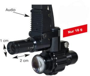 Abb. 2: Full HD Kamera mit LED-Licht und Mikrophon