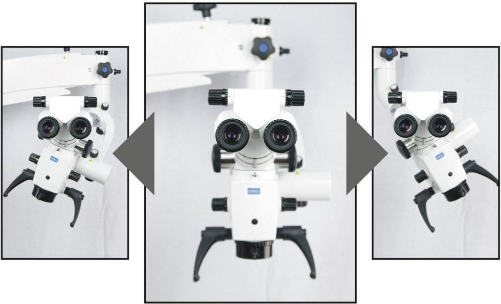 Abb. 4: Die Winkeloptik ermöglicht eine optimale Ausrichtung des Mikroskops (Zumax).