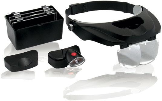 Cardex® Stereo-Kopfbandlupe mit LED