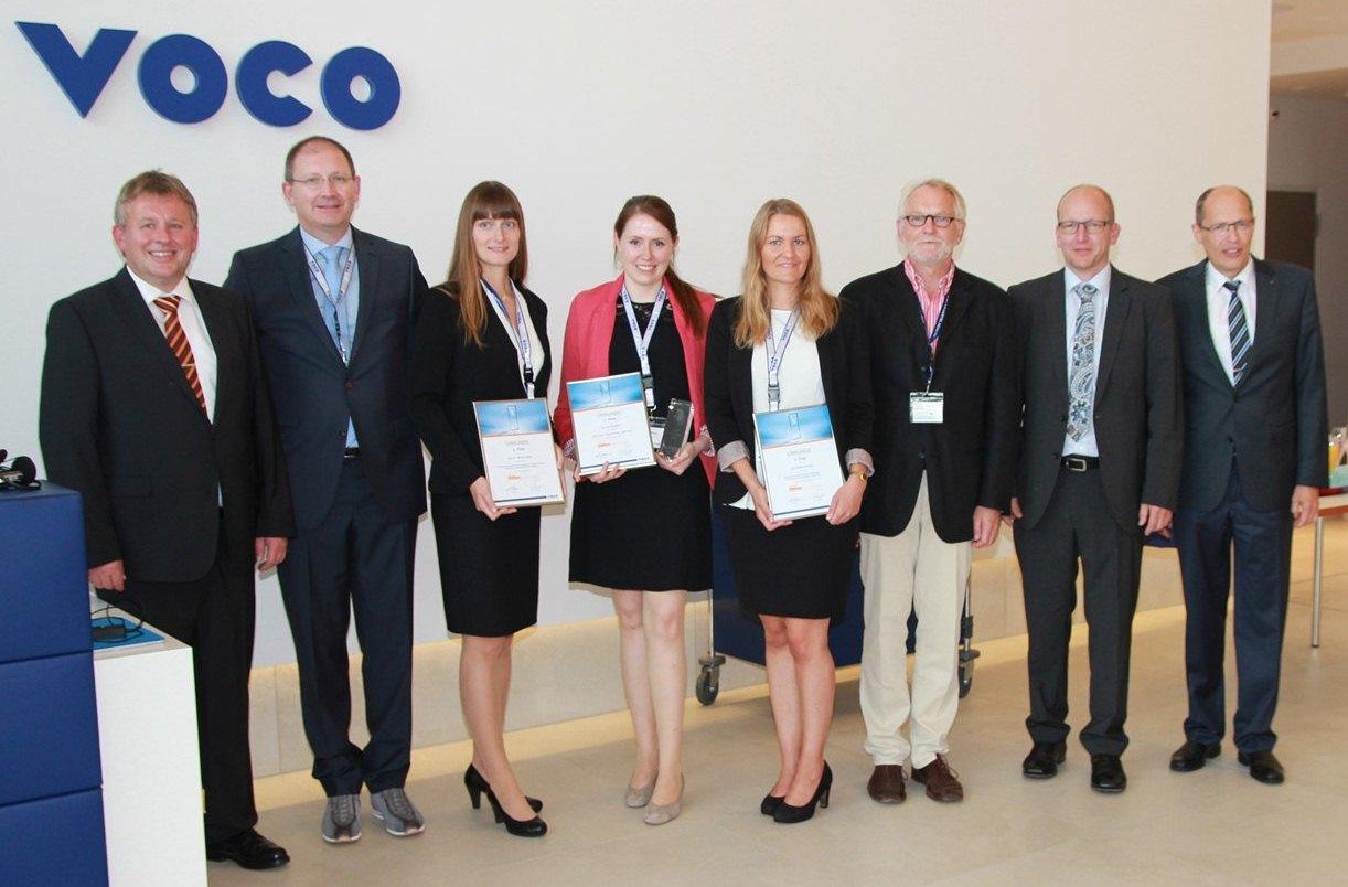 Die drei Preisträgerinnen der diesjährigen VOCO Dental Challenge