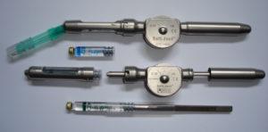 Abbildung 1a: DIN 13989-genormte Dosierrad-Spritze