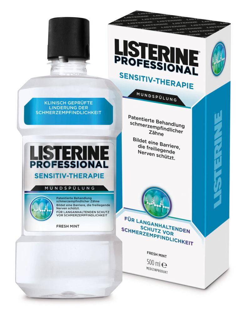 Das erste Listerine Therapeutikum für schmerzempfindliche Zähne nun auch im Drogeriemarkt erhältlich