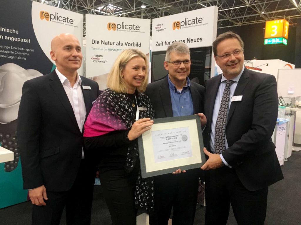 Berliner Unternehmen NDI erhält Auszeichnung für High-Tech REPLICATE® Zahn