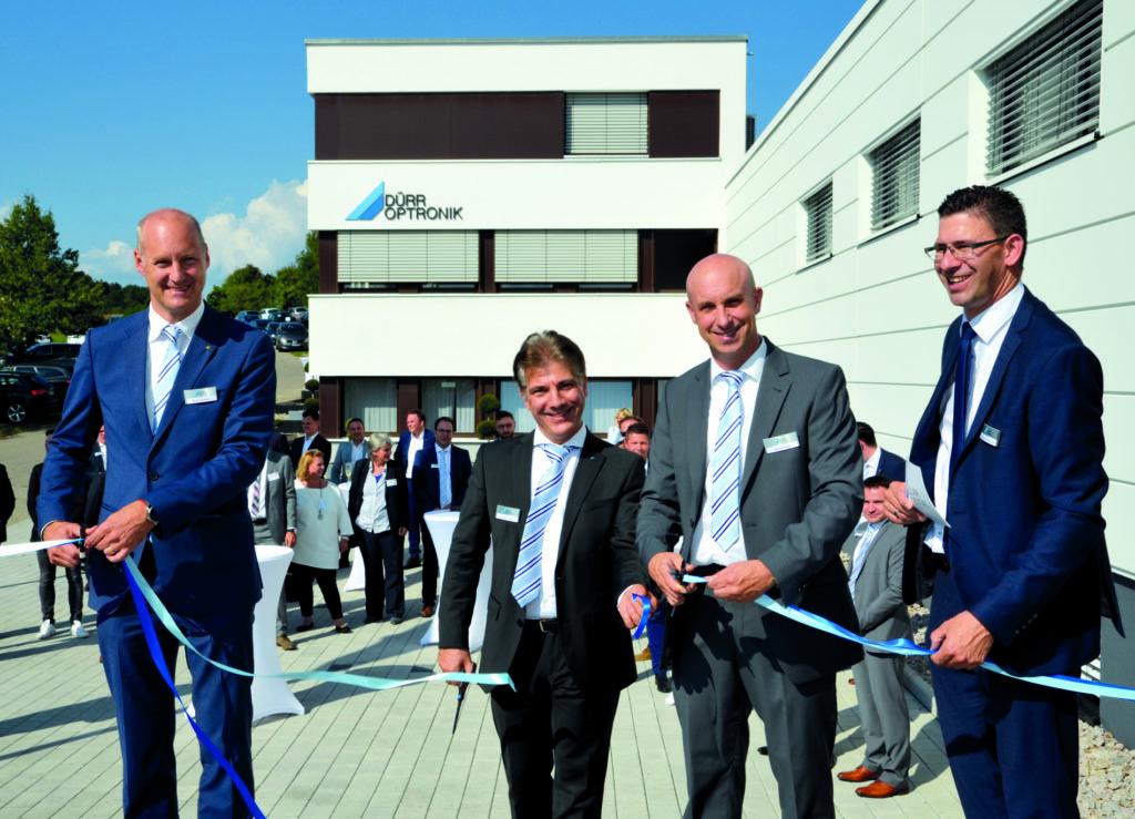 Feierliche Neubau-Einweihung von Dürr Optronik in Gechingen