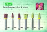 Diamantdurchsetzte Polierer für Keramik in der Zahnarztpraxis