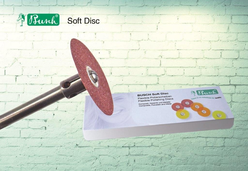 4-stufiges Polierscheibensystem für Gold, Komposit und Amalgam (Soft Disc)