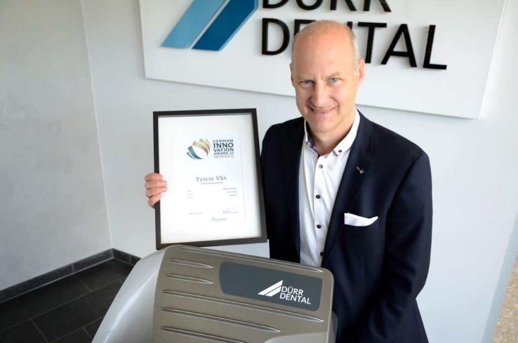 DÜRR DENTAL – Tyscor Saugmaschine VS 4 mit dem German Innovation Award ausgezeichnet